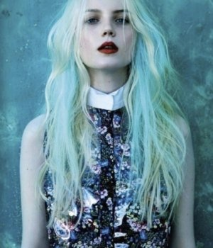 autumn hair colour natural   pastel blue