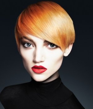 tangerine autumn hair colour natural  otange
